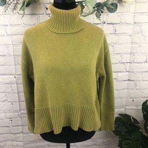 Pistachio green turtle neck sweater